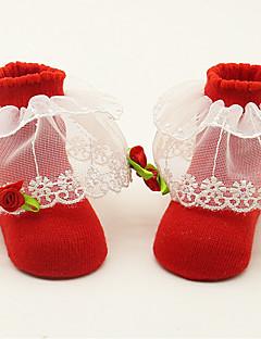 billige Undertøj og sokker til piger-Pige Sokker & Strømper Alle årstider - Bomuld Rød Lyserød