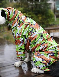 billiga Hundkläder-Hund Regnjacka Hundkläder Reaktiv Tryck Kamoflagefärg Annat material Kostym För husdjur Vattentät