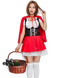 billige julen Kostymer-Cosplay Kostumer Dame Jul Halloween Karneval Oktoberfest Nytt År Festival / høytid Halloween-kostymer Rød Fargeblokk