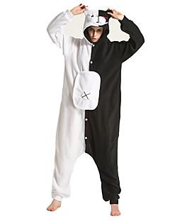 billige Kigurumi-Voksne Kigurumi-pysjamas Panda Onesie-pysjamas Kostume Polar Fleece Svart / Hvit Cosplay Til Pysjamas med dyremotiv Tegnefilm Halloween Festival / høytid