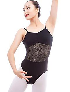 Χαμηλού Κόστους Ρούχα για μπαλέτο-Μπαλέτο Φορμάκια Γυναικεία Επίδοση Βαμβάκι Διαφορετικά Υφάσματα Αμάνικο Φυσικό Φορμάκι / Ολόσωμη φόρμα