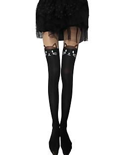 billige Sokker og strømper til damer-Dame Strømpebukse-Figurer,Uthult Normal