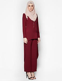 tanie Etniczne & Cultural Kostiumy-Arabska sukienka Abaya Damskie Festiwal/Święto Kostiumy na Halloween Stroje Szary / Niebieski / Czerwony Solidne kolory Etniczne Moda