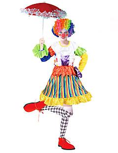 billige Halloweenkostymer-Burlesk/Klovn Sirkus Cosplay Kostumer Party-kostyme Dame Karneval Festival / høytid Halloween-kostymer Regnbue Fargeblokk Fest/aften Aktiv