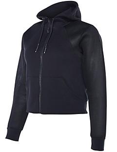 billiga Träning-, jogging- och yogakläder-Dam T-shirt för jogging - Svart, Blå, Grå sporter Collegetröja Långärmad Sportkläder Snabb tork