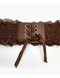 levne Módní pásky-Dámské Vintage Široký pásek Látka