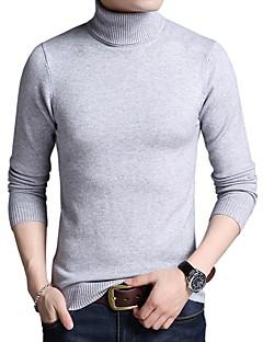 tanie Męskie swetry i swetry rozpinane-Męskie Praca Golf Pulower Jednokolorowe Długi rękaw