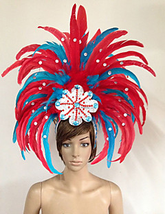 cheap Halloween & Carnival Costumes-Carnival Hats Red Feather Cosplay Accessories Carnival Masquerade
