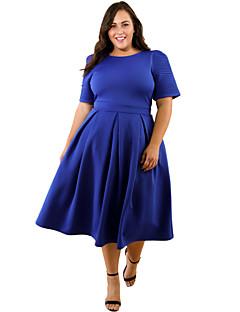 cheap Plus Size Dresses-Women's Loose Dress - Solid, Ruched High Waist Turtleneck