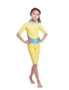 tanie Odzież dla dziewczynek-Dla dziewczynek Jendolity kolor Patchwork Stroje kąpielowe, Nylon Lycra Gold Blushing Pink