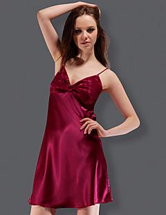 tanie Piżamy-Damskie Seksowna Satyna i jedwab Piżama-Modne,Jendolity kolor