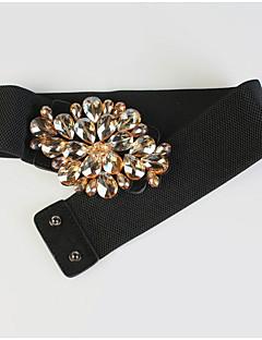 billige Trendy belter-Dame Vintage Fritid Bredt belte Tøy Svart