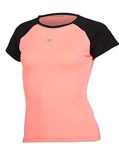 billige Løbetøj-Dame Løbe-T-shirt T-Shirt - Sport Løb Kortærmet Hurtigtørrende Mikroelastisk Blå, Lys pink, Grå Ensfarvet