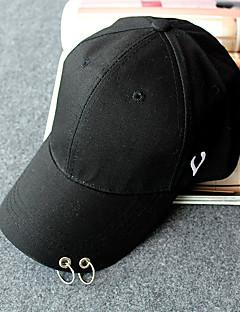 billige Trendy hatter-Unisex Kontor Fritid Baseballcaps Solhatt,Alle årstider Ensfarget Bomull Elegant Hvit Svart