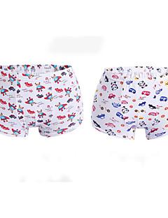 billige Undertøj og sokker til drenge-Drenge Undertøj Kreativ, Bomuld Alle årstider Simple Elastisk Orange Gul