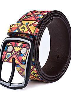 billige Trendy belter-Unisex Vintage Smalt belte, Elegant Legering Gul