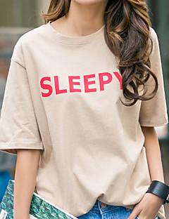 お買い得  レディーストップス-女性用 Tシャツ レタード コットン