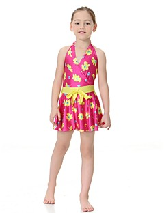 cheap Girls' Clothing-Girls' Floral Swimwear,Nylon Lycra Fuchsia Purple