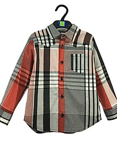 billige Overdele til drenge-Baby Drenge Simple Stribet Langærmet Bomuld Skjorte