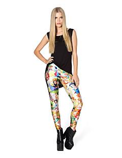 voordelige Damesbroeken-Dames Print Legging - Bloemen, Print Hoge taille