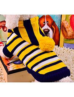 billiga Hundkläder-Katt Hund Tröjor Hundkläder Randig Gul Röd Elastisk Kostym För husdjur Ny Ledigt/vardag
