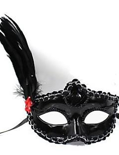 baratos Máscaras-Máscara Venetian Clássico Preto / Branco Plásticos Acessórios para Cosplay Baile de Máscaras Trajes da Noite das Bruxas