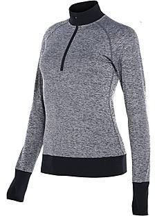 billiga Träning-, jogging- och yogakläder-Dam T-shirt för jogging - Svart, Mörkblå, Grå sporter T-shirt Långärmad Sportkläder Snabb tork Oelastisk