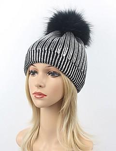 billige Trendy hatter-Dame Beanie Hatt Beret Fedora Solhatt Skilue - Elegant, Ensfarget
