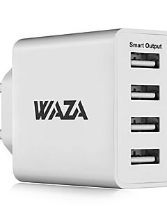 ieftine Noutăți-Încărcător Portabil Telefon încărcător USB Priză EU Încarcator Rapid Multi Porturi 4 Porturi USB 5A AC 100V-240V iPhone X iPhone 8 Plus