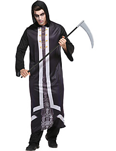 billige Halloweenkostymer-Grim Reaper Cosplay Kostumer Herre Halloween Festival / høytid Halloween-kostymer Svart Halloween Halloween