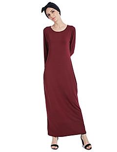 tanie Etniczne & Cultural Kostiumy-Arabska sukienka Abaya Sukienka kaftan Jalabiya Damskie Moda Festiwal/Święto Stroje Kawowy / Czerwony / Niebieski Solidne kolory