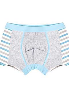 billige Undertøj og sokker til drenge-Drenge Undertøj Stribet, Bomuld Alle årstider Simple Sødt Elastisk Grøn Grå