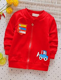 billige Hættetrøjer og sweatshirts til drenge-Drenge Bluse Bomuld Forår Efterår Langærmet Simple Blå Grøn Rød
