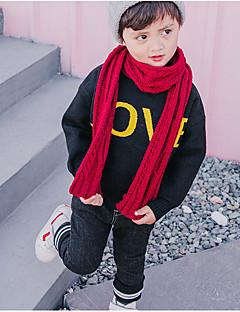 お買い得  男児 セーター&カーディガン-男の子 お出かけ プリント ナイロン セーター&カーデガン 春 長袖 キュート ブラック オレンジ