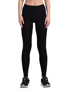 billiga Träning-, jogging- och yogakläder-Dam Tights för jogging - Rosenröd, Blå, Grå sporter Tryck Cykling Tights / Leggings Sportkläder Snabb tork