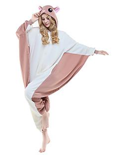 billige Kigurumi-Kigurumi-pysjamas Ekorn Mus Flyvende ekorn Onesie-pysjamas Kostume Polar Fleece Syntetisk Fiber Brun Cosplay Til Voksne Pysjamas med