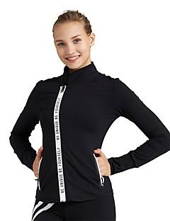 お買い得  フィットネス、ランニング&ヨガウェア-女性用 ランニングジャケット - ブラック, レッド スポーツ ジャケット / トレーナー / トップス 長袖 アクティブウェア 通気性 伸縮性あり
