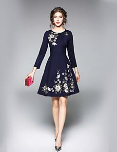お買い得  レディースドレス-女性用 ワーク Aライン ドレス ソリッド