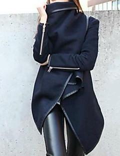 お買い得  レディースコート&トレンチコート-女性用 祝日 コート - ストリートファッション ピーターパンカラー ソリッド