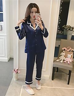 billige Moteundertøy-Dame Dress Pyjamas Medium Rayon Blå Rød Rosa