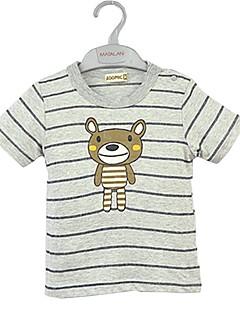 billige Overdele til drenge-Drenge T-shirt Tegneserie, Bomuld Sommer Kortærmet Tegneserie Grøn Grå Gul