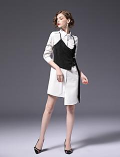 cheap FRMZ-FRMZ Women's Work Cute Active Sheath Dress - Color Block Shirt Collar
