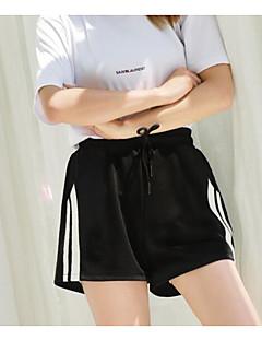 お買い得  ショーツ-女性用 ハイライズ ショーツ パンツ ストライプ
