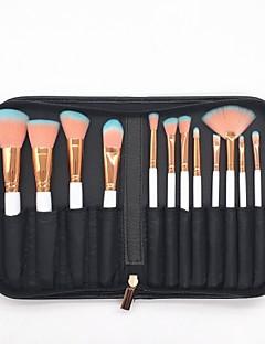 billige Sminkebørstesett-12pcs Makeup børster Profesjonell Børstesett / Rougebørste / Øyenskyggebørste Økovennlig / Myk / Full Dekning Tre