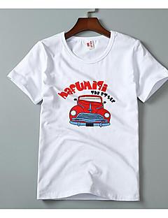 billige Overdele til drenge-Drenge T-shirt Ensfarvet, Bomuld Bambus Fiber Forår Kortærmet Vintage Blå Hvid Gul