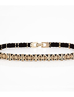 cheap Fashion Belts-Women's Street chic Alloy Chain - Solid Colored