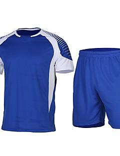 billiga Träning-, jogging- och yogakläder-Herr Rund hals Lappverk T-shirt och shorts till jogging - Grön / Svart, Blå / Vit, Svart / Orange sporter Shorts / T-shirt Kortärmad