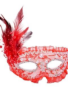baratos Máscaras-Mascarada Clássico Rosa / Vermelho / Branco Plásticos Acessórios para Cosplay Dia Das Bruxas / Baile de Máscaras Trajes da Noite das Bruxas