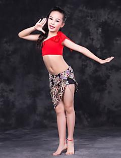 tanie Dziecięca odzież do tańca-Taniec brzucha Outfits Wydajność Mléčné vlákno Wzorek / Nadruk Bez rękawów Wypada Spódnice Top