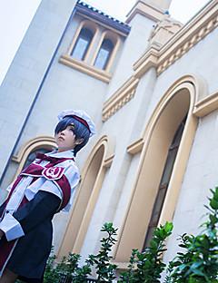 """billige Anime cosplay-Inspirert av Svart Tjener Anime  """"Cosplay-kostymer"""" Cosplay Klær Trykt mønster Halsklut Sjal Kostume Øyenmaske Hatt Til Herre"""